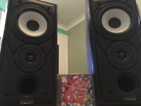mission 701 loudspeakers and wires