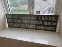 Cities Wall Plaque