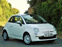(IMMACULATE CONDITION) FIAT 500 POP 1.2 3DR WHITE (2008) - FULL SERVICE HISTORY - RED INTERIOR -
