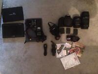 Canon filmmaking/photography kit with external monitor