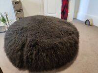 XL High Quality Faux Fur Bean Bag - Black (RRP £102)