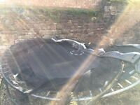 12ft trampoline, with safety net. 3 yrs old. Still in good condition.