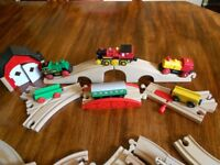 Brio battery operated trains - 3 engines and lots of track