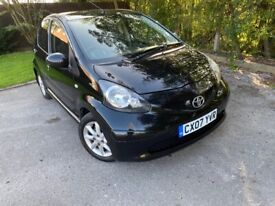 Parking Sensors, £20 Tax SH HPI Clear Alloys A/C 2 Keys Toyota Aygo 1.0 5 Door Yaris