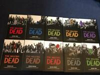 Walking dead hardcover comic books volumes 1 to 10