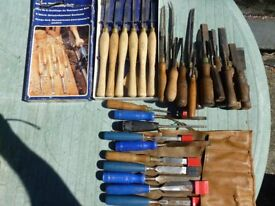 27 wood turning chisels