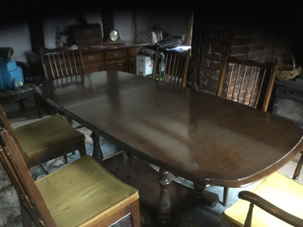 Pleasant Dark Wood Stag Make Dining Table And 6 Chairs The Table Extends To Sit More People In Penkridge Staffordshire Gumtree Onthecornerstone Fun Painted Chair Ideas Images Onthecornerstoneorg