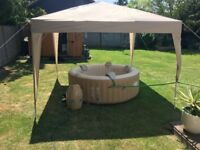 Lay-Z-Spa Palm Springs Airjet Hot TuB & Ground Mat+Chemicals+Filters FREE DELIVERY/SET-UP
