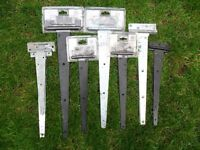"""""""T"""" HINGES FOR GATES & SHED DOORS ETC 7 PAIRS.. BRAND NEW...VARIOUS SIZES"""