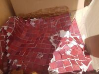 *CHEAP* small red squared wall tiles