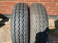 Pair of 195 70 15c light truck tyre 9.5mm tread