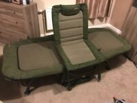 Fox flatliner bed chair and bed buddy