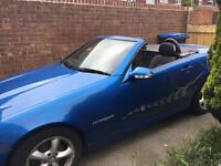 Mercedes Slk 230 Electric Blue with full M.O.T