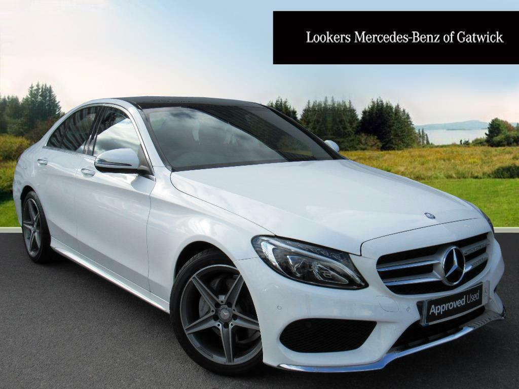 mercedes benz c class c200 d amg line premium white 2017 03 15 in crawley west sussex gumtree. Black Bedroom Furniture Sets. Home Design Ideas