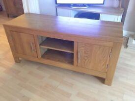 Solid Oak TV Unit Stand