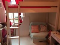 Aspace raised single bed w/writing table