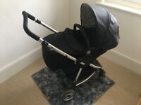 Classic Black My Child Floe Reversible Convertible Pushchair /Pram/ Travel Cot