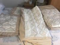 Dunelm gold cream double size bed set