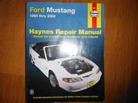 1994 thru 2004 Ford Mustang Service Repair Manual