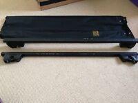 Car roof rack rails
