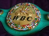 BOXING BELT IBF WBA WBO MAYWEATHER ALI CANELO PACQUIAO