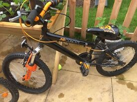 "Boys 20"" black and orange bike for sale"