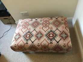 Patterned Cushion and Footstool FOR SALE