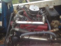 FORD 3.0 ESSEX MARINE BOAT ENGINE AND BORG WARNER VELVET DRIVE GEARBOX