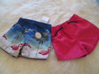 BNWT - BABY BOYS PINK/TROPICAL/FLAMINGO SHORTS - AGE 3-6 MONTHS - PRIM
