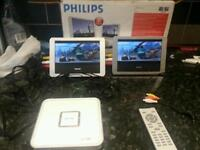 Philips portable dvd player twin TV