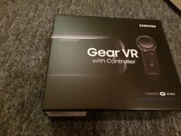 New unopened Samsung gear vr headset with controller