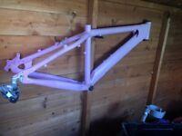Rare Saracen trials bike frame old school £60