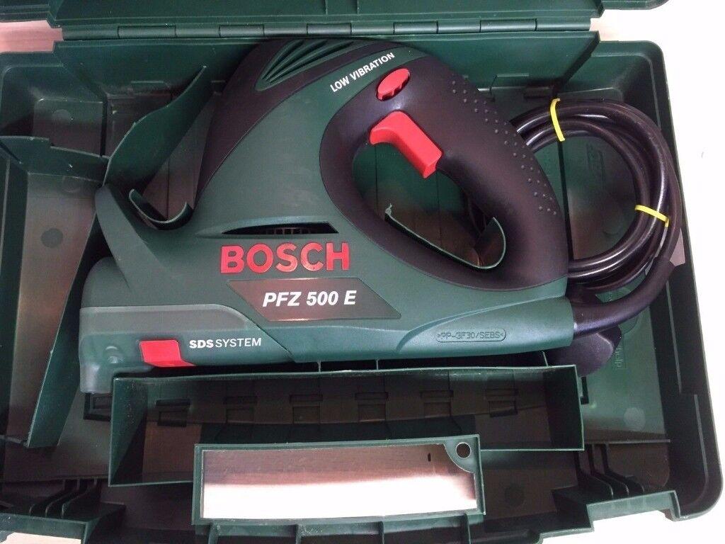 bosch pfz 500e sabre saw reciprocating saw and carry case 240v