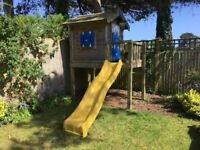 Jungle Gym Wooden Playhouse and Slide