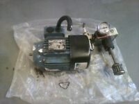 Hydraulic pump and three phase motor for generator