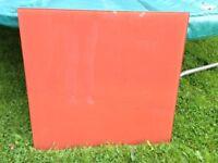 Glass splashback - Terracotta colour