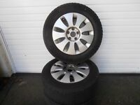 """Four 17"""" Audi Alloy Wheels with Mitchelin Tyres . Will also fit a V.W.transporter"""