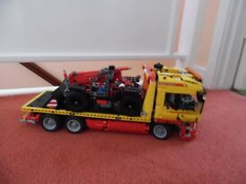 Lego technic 8109 flatbed truck and vehicle