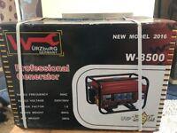 Wurzburg W-8500 professional petrol generator brand new! Sealed box
