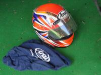 Arai motorcycle helmet with bag 59-60cm