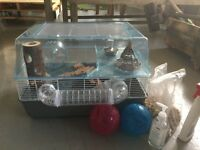 Hamster cage and accessories . Excellent condition.