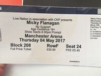 2x Micky Flanagan tickets Manchester thurs 4th may
