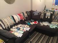 Extra large bag of baby boy cloths from tiny baby to 3 months