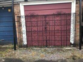 Wrought iron style gates