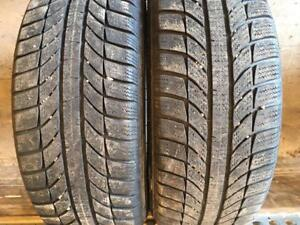 2 pneus d hiver 185/55r15 gt radial