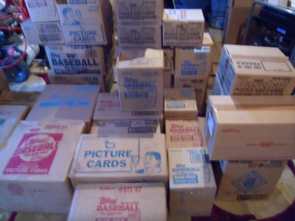 HUGE WAREHOUSE FIND OF VINTAGE UNOPENED BASEBALL CARD PACKS BONUSES GALORE