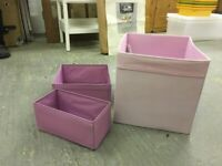 Pink/purple ikea storage boxes