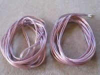 Van Damme Hi-Fi Series LC-OFC 2x6mm Speaker Cables 2x8M and jumpers.