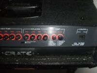 crate guitar amp head and 1x12 speaker cab