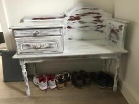 Shabby chic console table L99.5 H69 W43.5